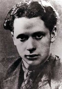 A young Dylan Thomas