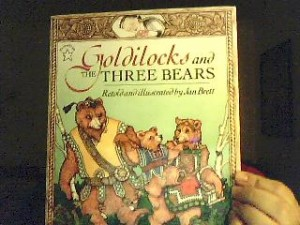Jan Brett's retelling of Goldilocks and the Three Bears