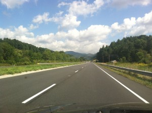 Heading towards Burnsville, North Carolina