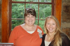 With fellow author Piper Peters Aheron, Birchwood Book & Author Fair, Table Rock State Park, SC