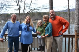 With my family at the Lake Cherokee book brunch, Tamassee, SC