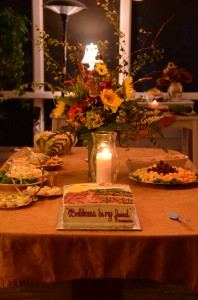 book launch party table, Greenville, SC
