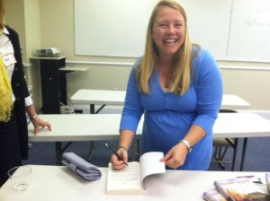 Signing books at the Wonderland Book Club, Raleigh, NC