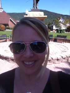 At the town square in Burnsville, NC ~ Carolina Mountains Literary Festival