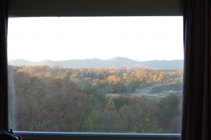 View from my hotel room, Dahlonega Literary Festival, GA