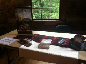 My table at the Birchwood Book & Author Fair, Table Rock State Park, SC