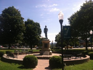 Town square, Burnsville, NC ~ Carolina Mountains Literary Festival