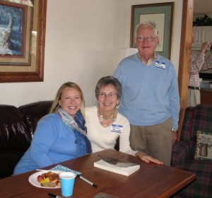 With the Provosts, book brunch organizers, Lake Cherokee, Tamassee, SC