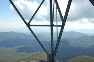 from the fire tower