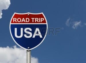road trip sign