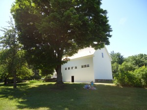 Picnicking at Robert Frost's New Hampshire farm