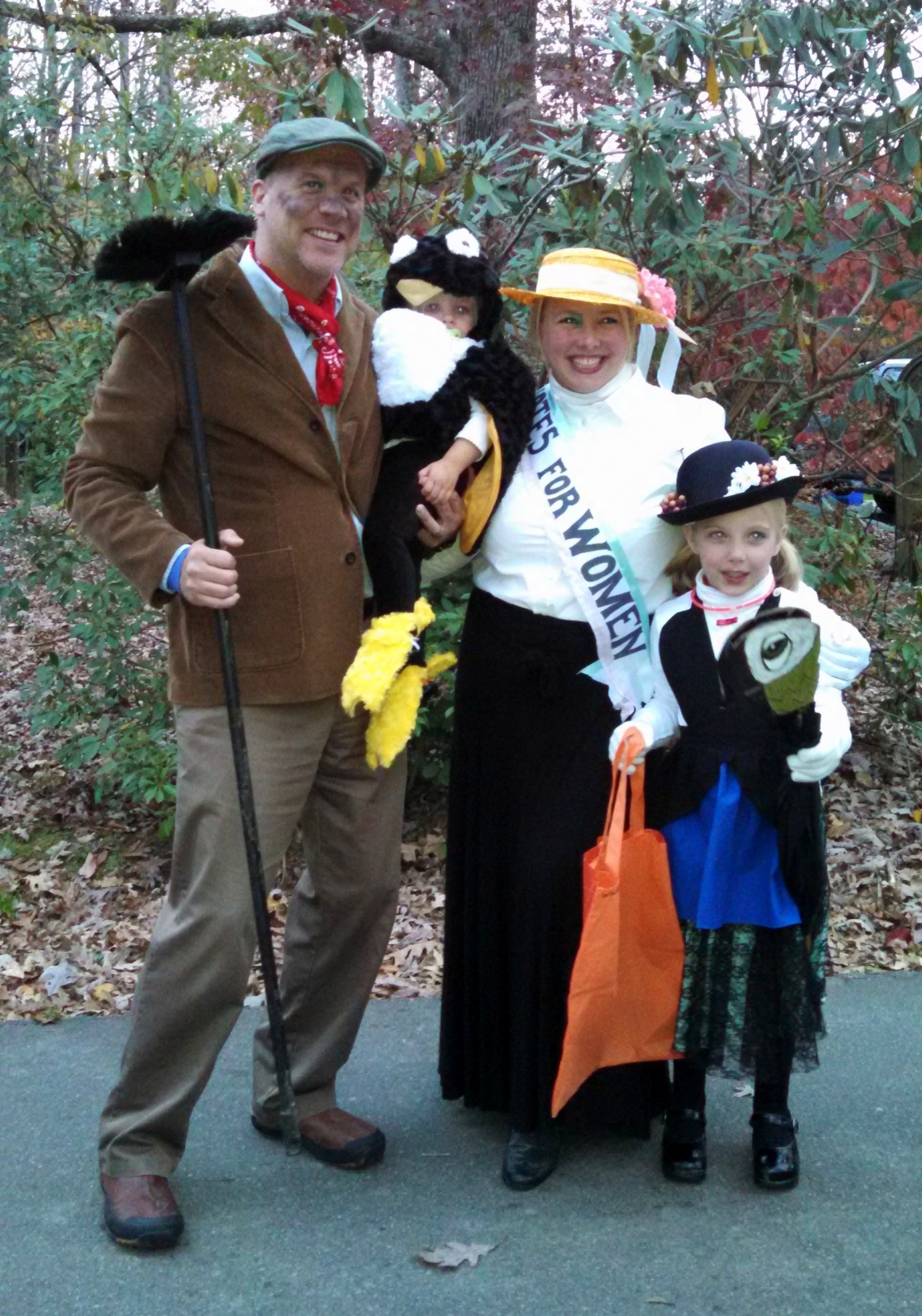 "My family, dressed as characters from the original ""Mary Poppins,"" Halloween 2014."