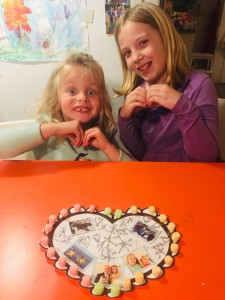 My girls: the reason I celebrate Valentine's Day.
