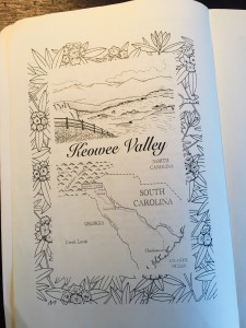 A rendering of the Keowee Valley, by artist James Pharr