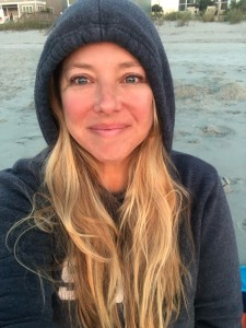 Sunrise on the beach (and so very happy)
